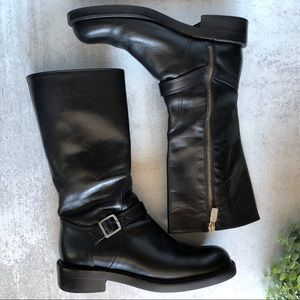 Coach Black Leather Biker Style Boot 8.5